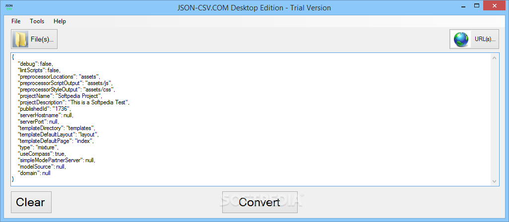 Download JSON-CSV com Desktop Edition 1 0 6890 41423
