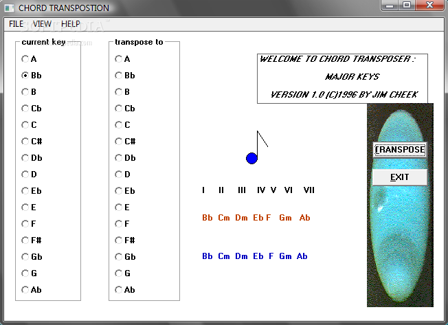 Download JWC Chord Transposer 1.0