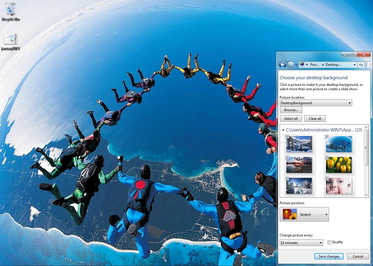 download january 2012 calendar windows 7 theme 1 0