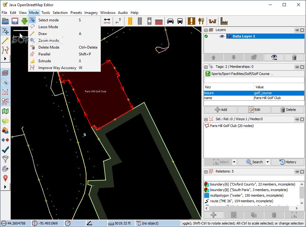 Download Java OpenStreetMap Editor 14945 / 15336 Development