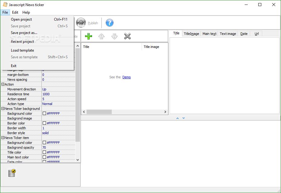 Download Javascript News Ticker 1 1 0
