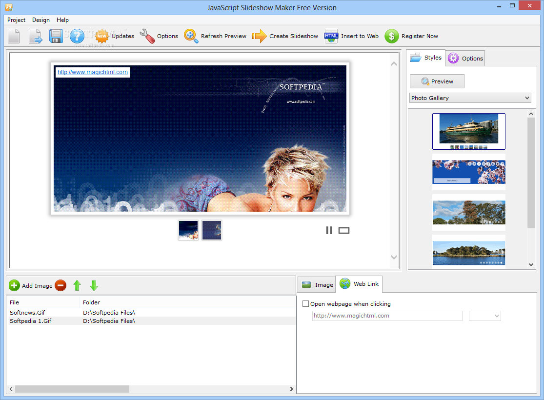 Download JavaScript Slideshow Maker Free Version 3 2
