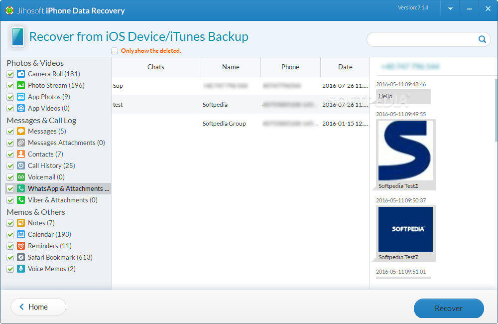 Download Jihosoft iPhone Data Recovery 8.1.4