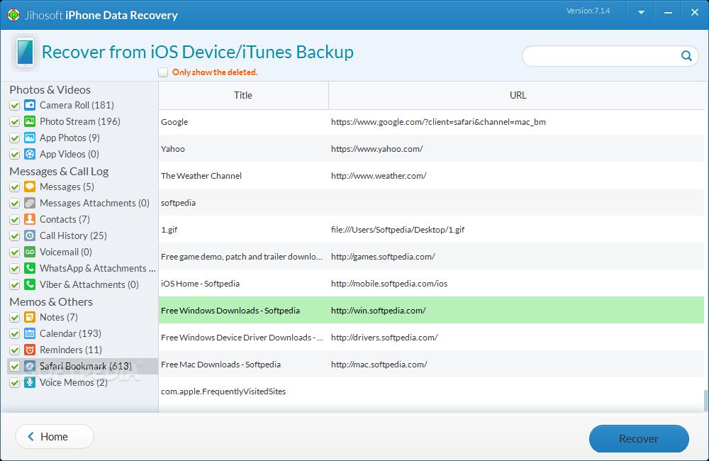 Download Jihosoft iPhone Data Recovery 8.1.4