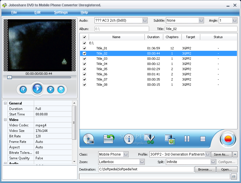 Ripping DVD for Nokia mobile phone
