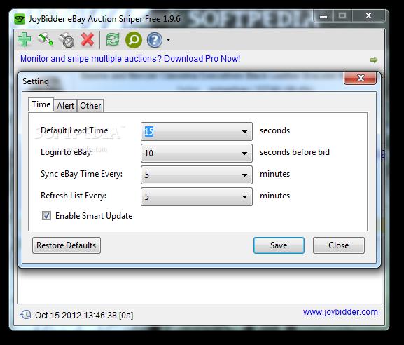 Download Joybidder Ebay Auction Sniper Free 1 9 76