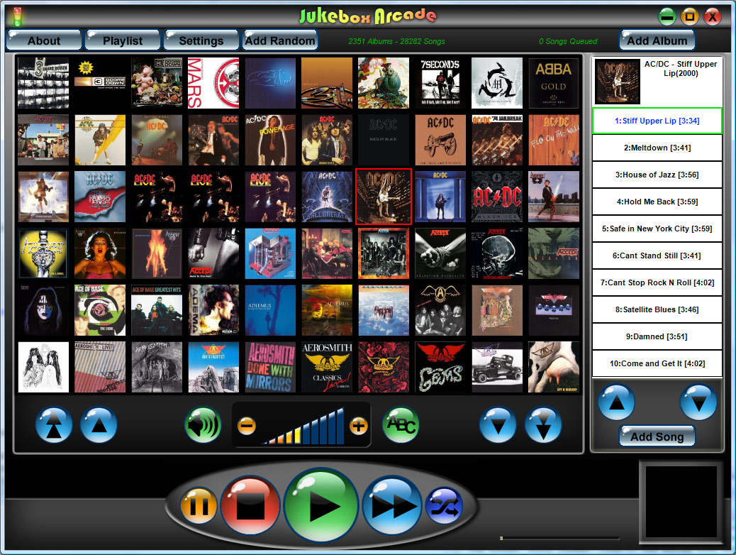 ... easily add albums and songs, create playlists and control the player: www.softpedia.com/get/Multimedia/Audio/Audio-Players/Jukebox-Arcade...