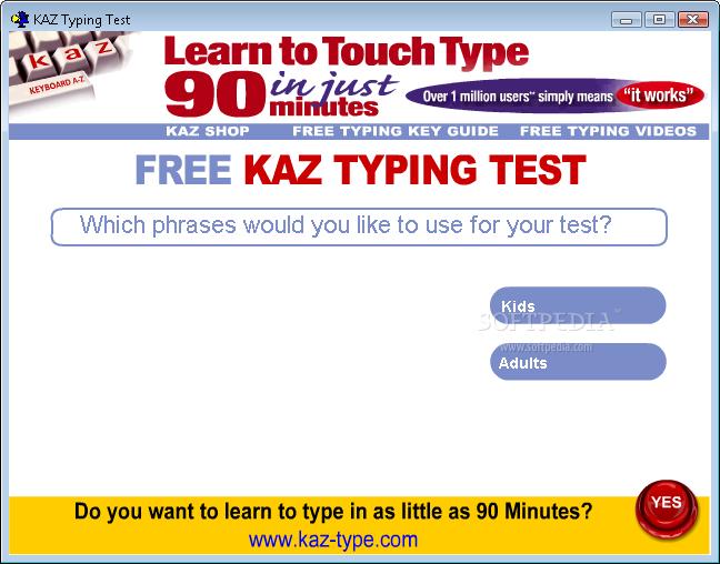 Download KAZ Typing Test 1 0 0 41