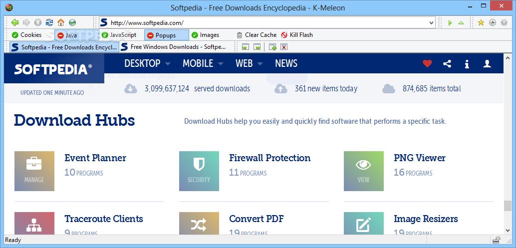 Download K-Meleon 75.1 / 76 RC Update 1 K Meleon Browser Logo