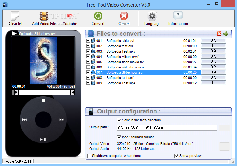 koyote free ipod video converter