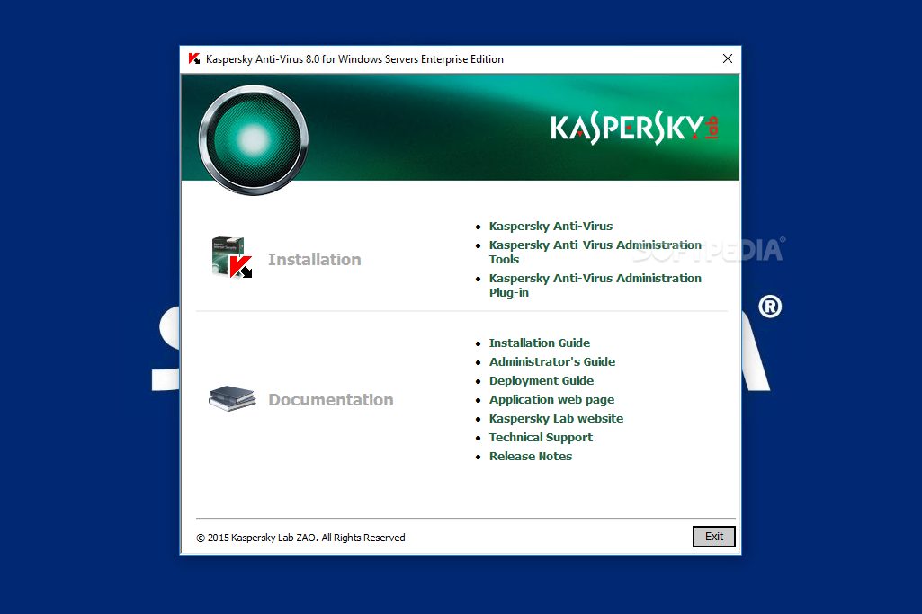 Problem with kaspersky endpoint 8 workstation on windows server.