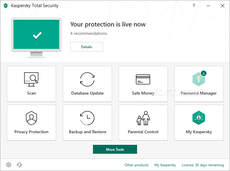Download Kaspersky Total Security 20 0 14 1085 / 21 0 13 418 Beta