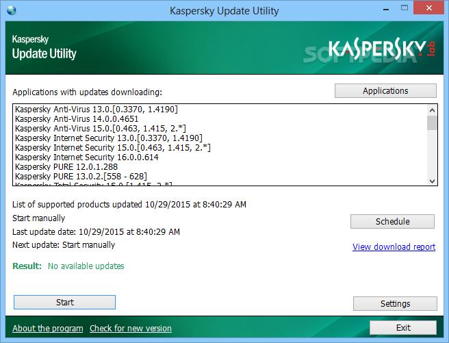 Download Kaspersky Update Utility 3 2 0 153