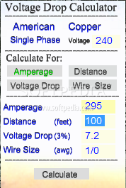 Download voltage drop calculator 101 greentooth Image collections