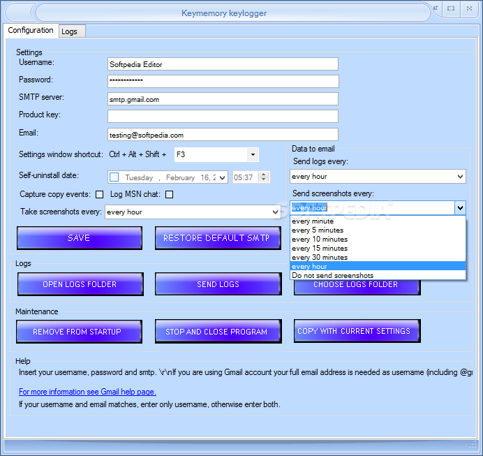 Download Keymemory Keylogger 1 2