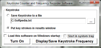 Download Keystroke Counter and Frequency Recorder Software 7 0