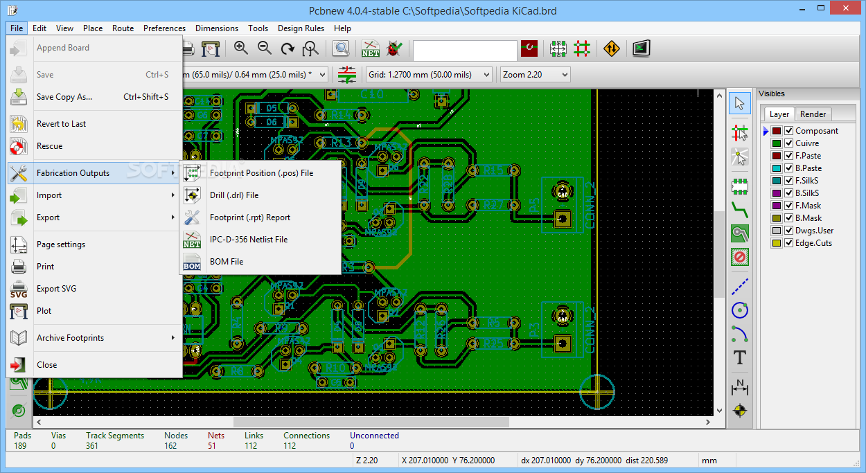 Download KiCad Portable 4 07 / 5 1 4 Dev Test 1