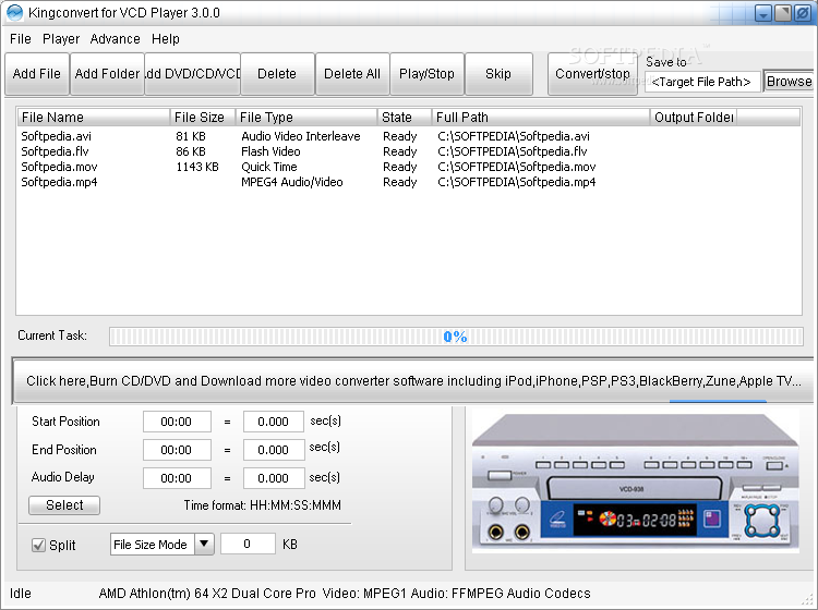 Download Free VCD to MPEG-4 AVC Converter 1.2.3