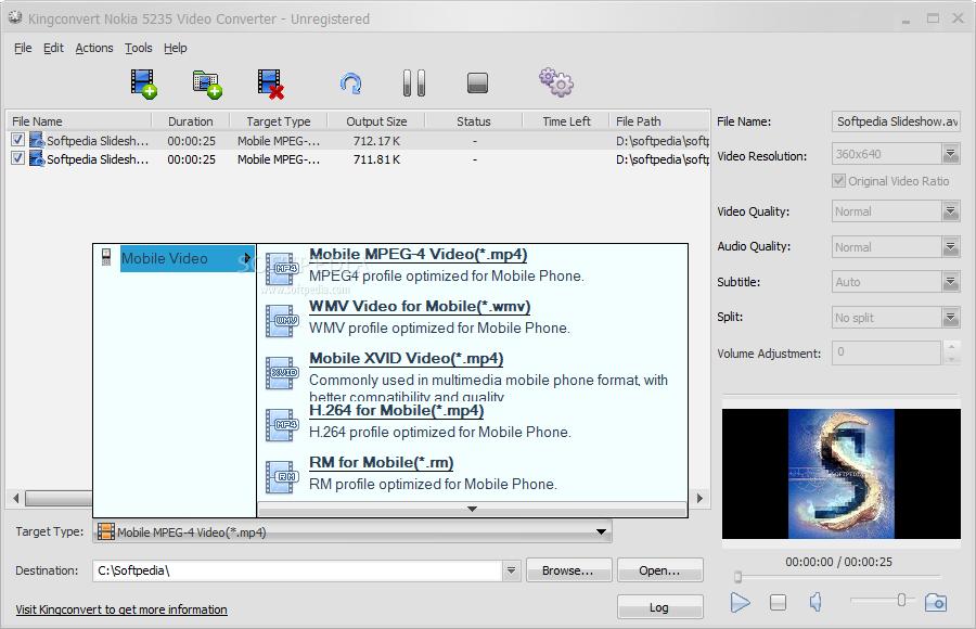 Download KingConvert Nokia 5235 Video Converter 5 0 0 8