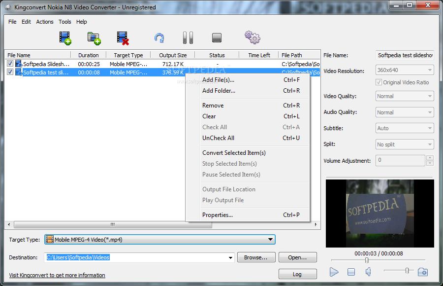 kingconvert nokia n8 video converter free download