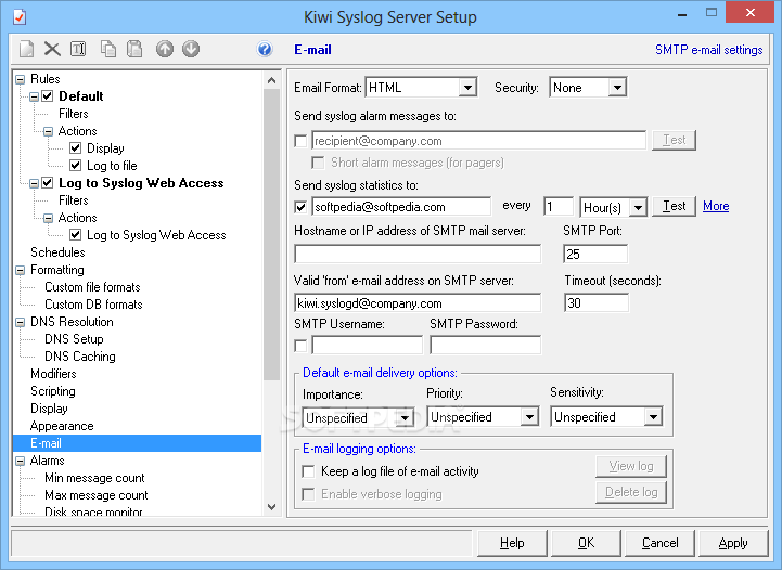 Download Kiwi Syslog Server 9 5 0