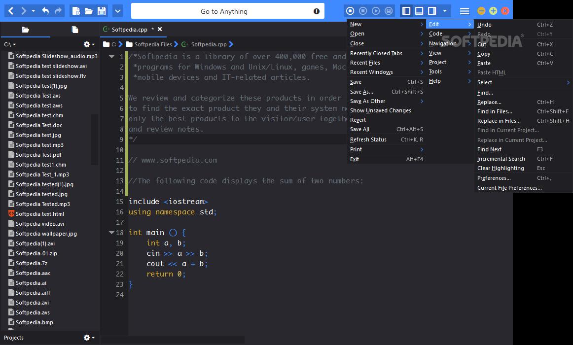 Komodo edit mac komodo edit for mac