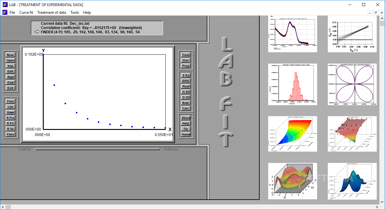 Download LAB Fit Curve Fitting Software 7 2 50