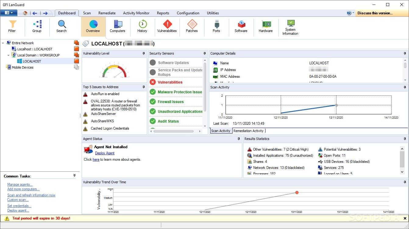 How to install languard gfi on windows 2008