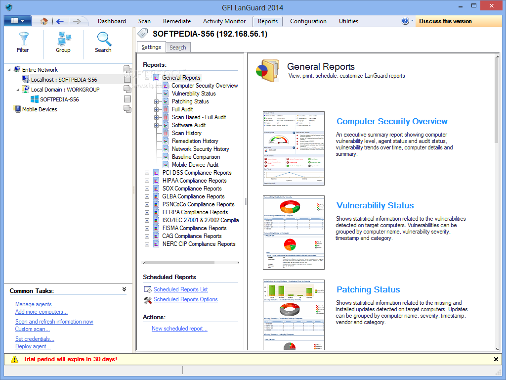 Network auditing Analyze your network centrally