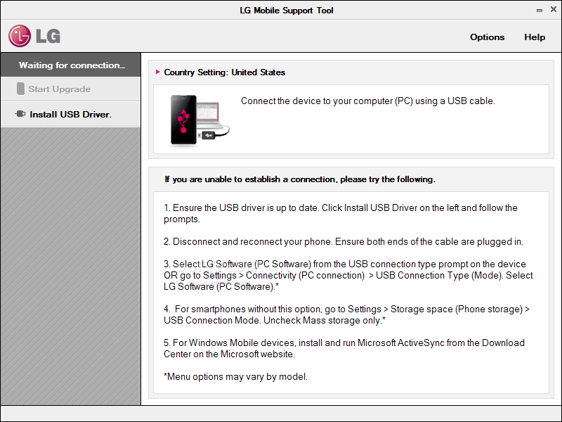 Download LG Mobile Support Tool 1 8 9 0