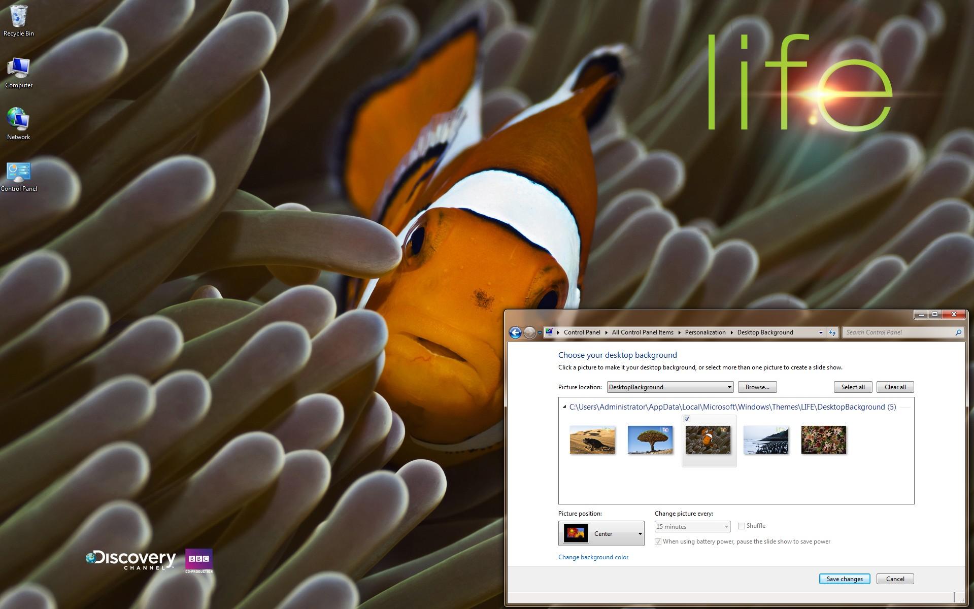 Download LIFE Windows 7 Theme