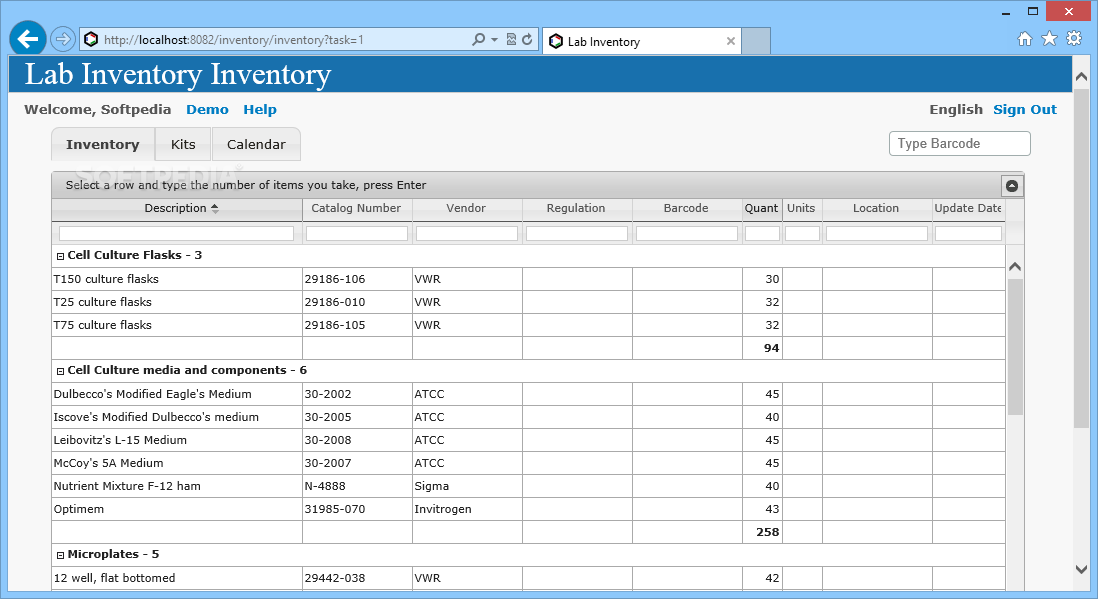 Download Lab Inventory Build 127