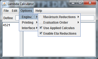 lambda calculator developer menu
