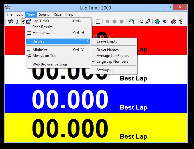 Laptimer 2000 >> Download Lap Timer 2000 6 3