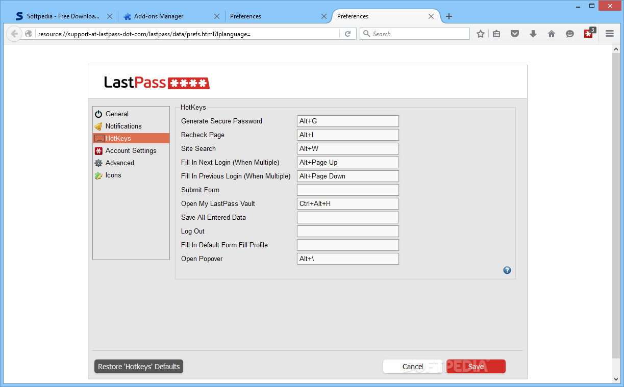 lastpass password generator not working firefox