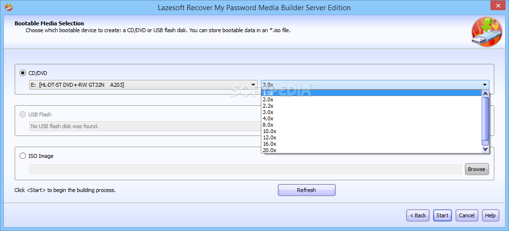 WatFile.com Download Free Lazesoft Recover My Password Server - The Bootable Media Selection