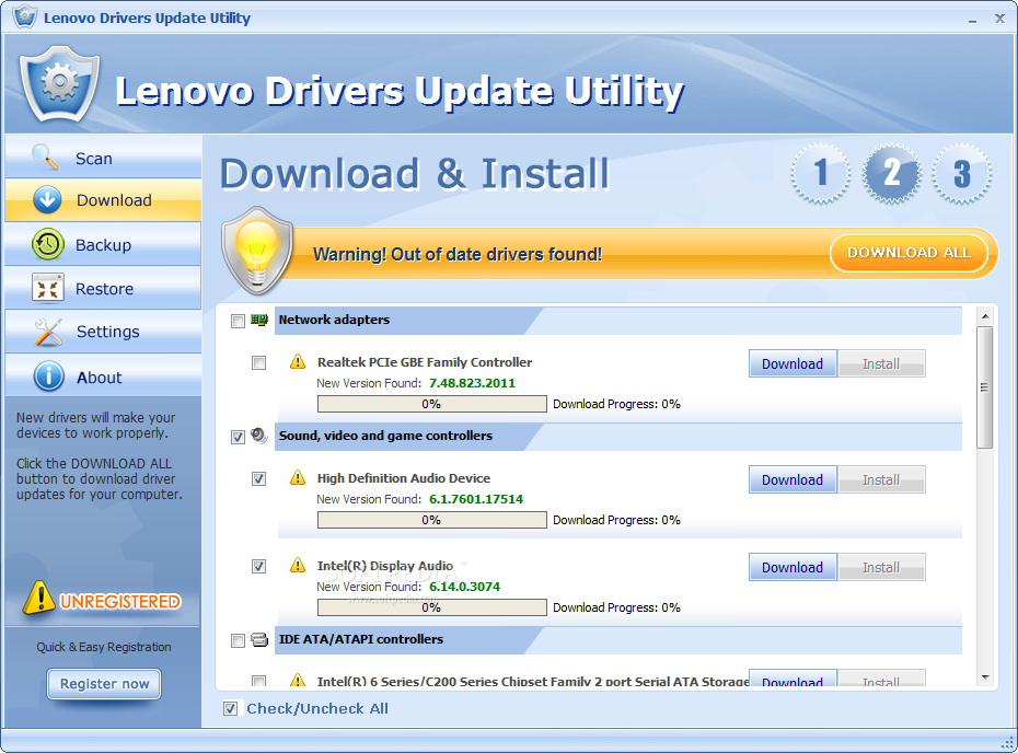 download lenovo drivers for windows 7