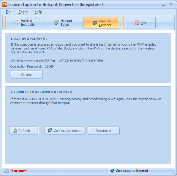 Download Lenovo Laptop to Hotspot Converter
