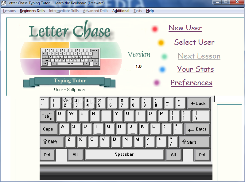Letter chase typing tutor full version