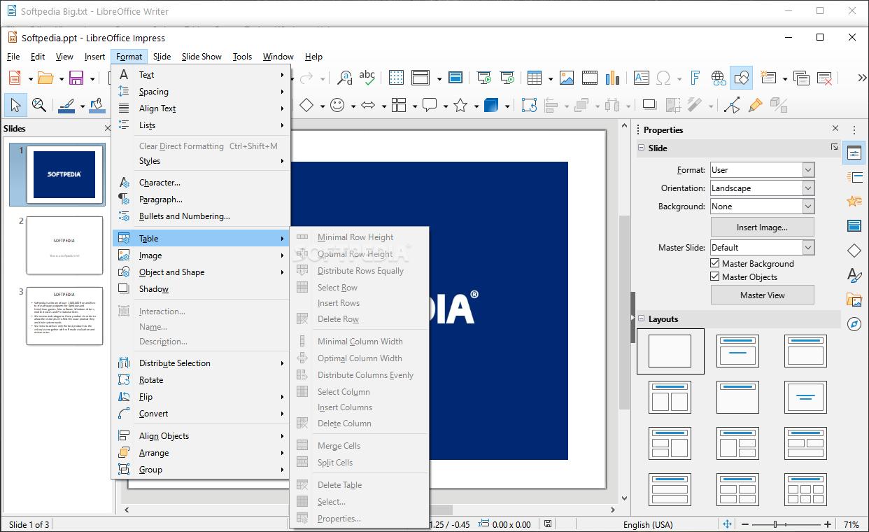 Download LibreOffice 6 3 0 4 Fresh / 6 2 5 2 Still