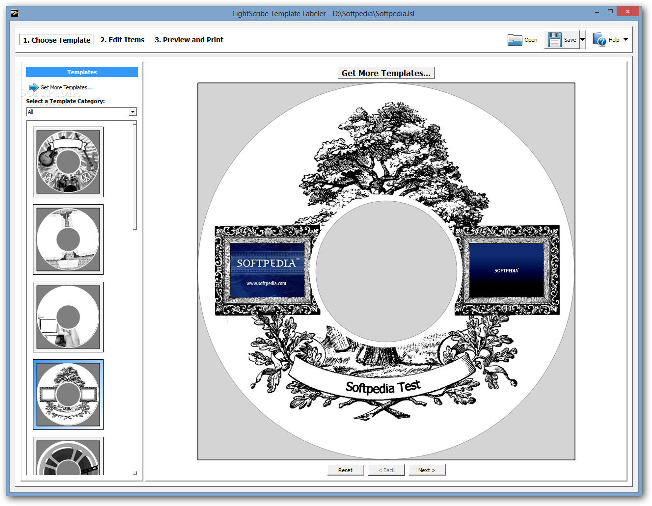 Image Gallery Lightscribe Templates