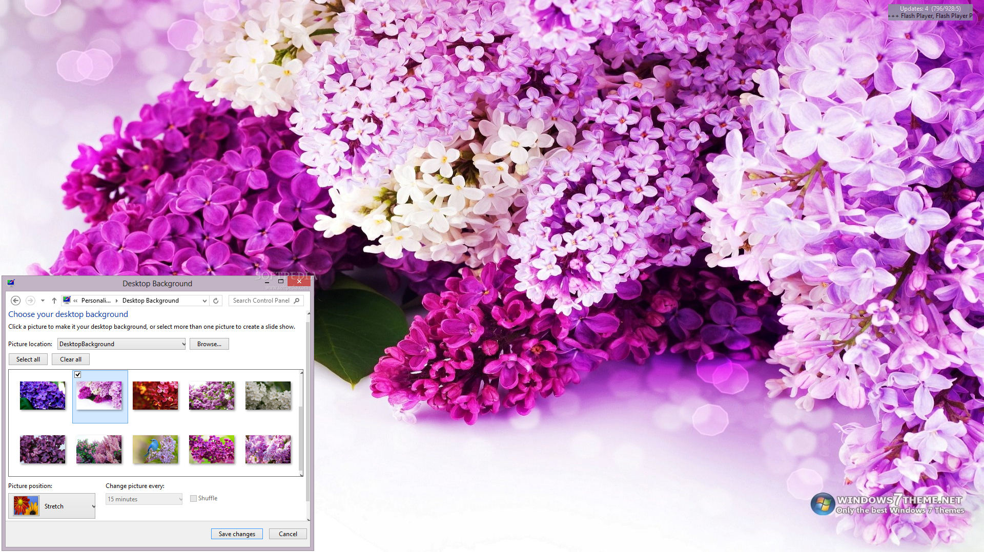 download lilac flowers windows 7 theme 100