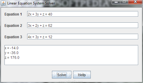 Java Equation Solver