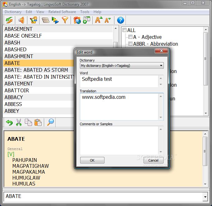 Download LingvoSoft Dictionary 2007 English - Tagalog 4 1 29
