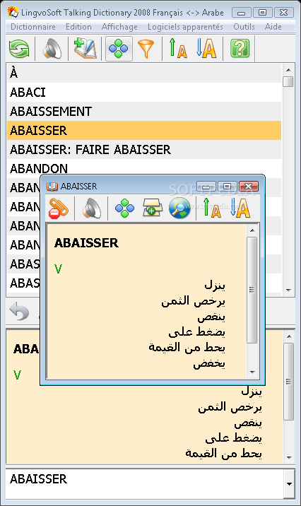 lingvosoft dictionary 2008 french - arabic gratuit