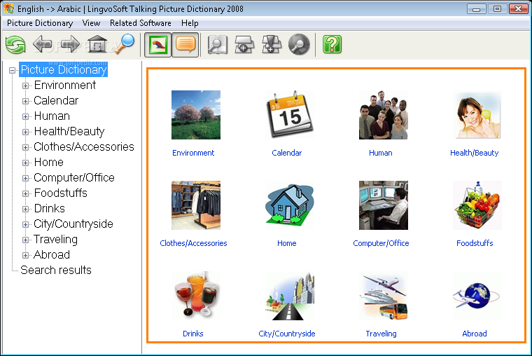 Download LingvoSoft Talking Picture Dictionary 2008 English - Arabic 1 2 25