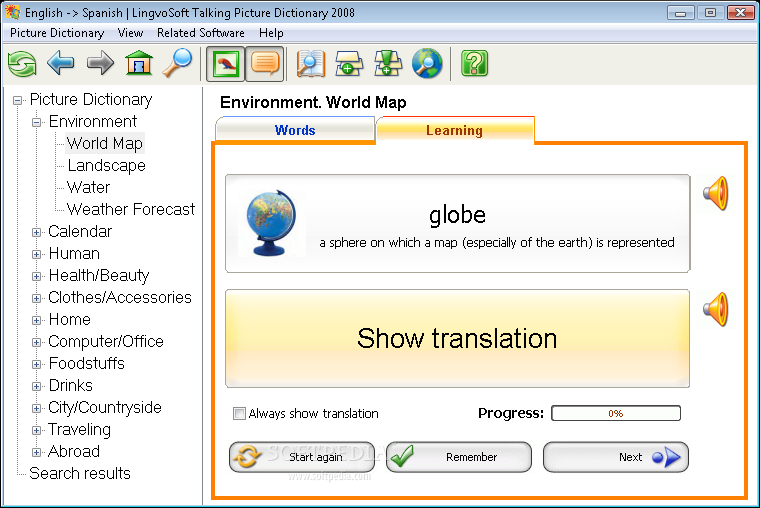 Download LingvoSoft Talking Picture Dictionary 2008