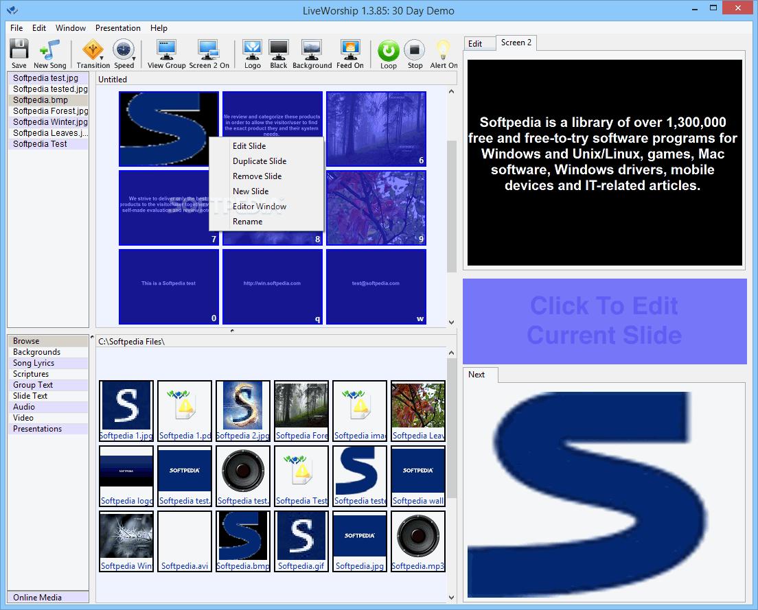 Proclaim church presentation software.