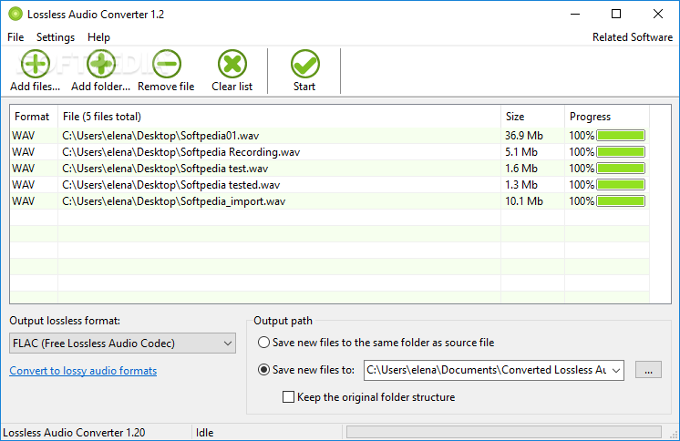 Download Lossless Audio Converter 1 20