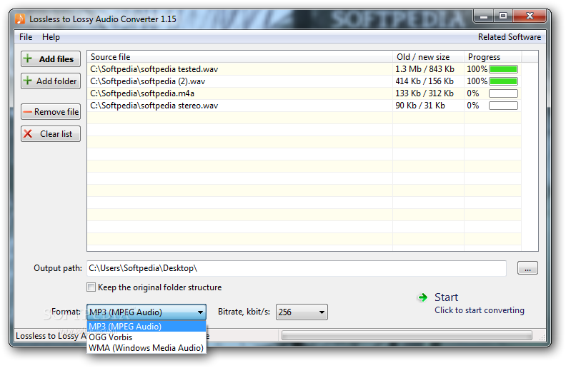 Download Lossless to Lossy Audio Converter 1 55